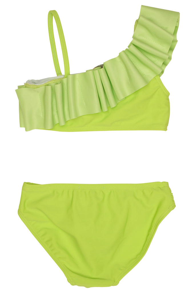 Lime Ruffle Bikini  - Doodlebug's Children's Boutique