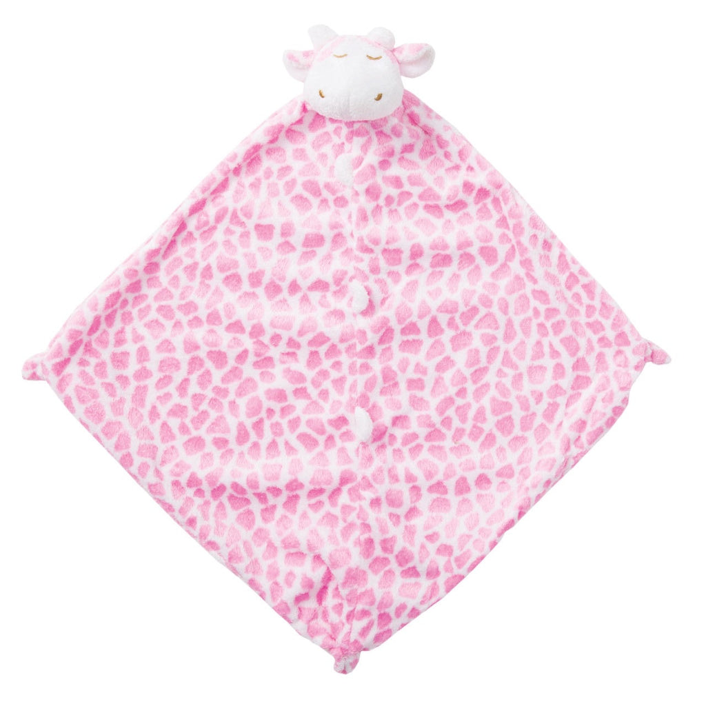 Pink Giraffe Lovie Blankie  - Doodlebug's Children's Boutique