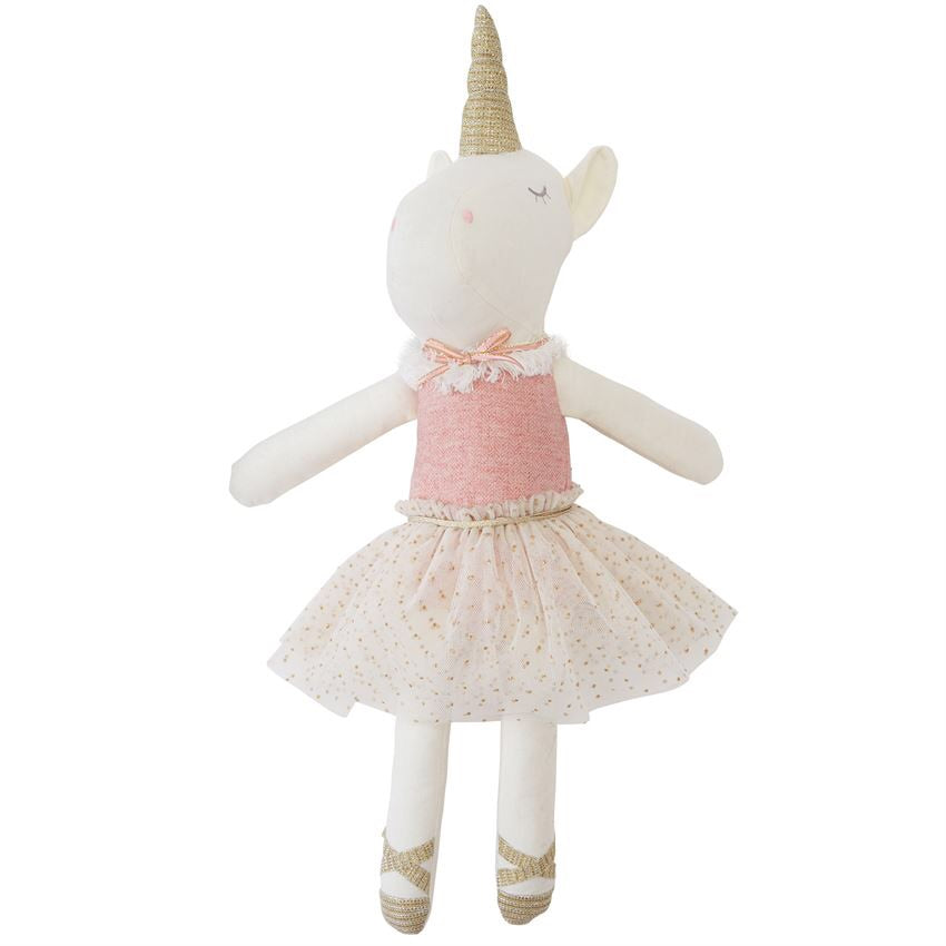 Mud Pie Linen Unicorn Doll