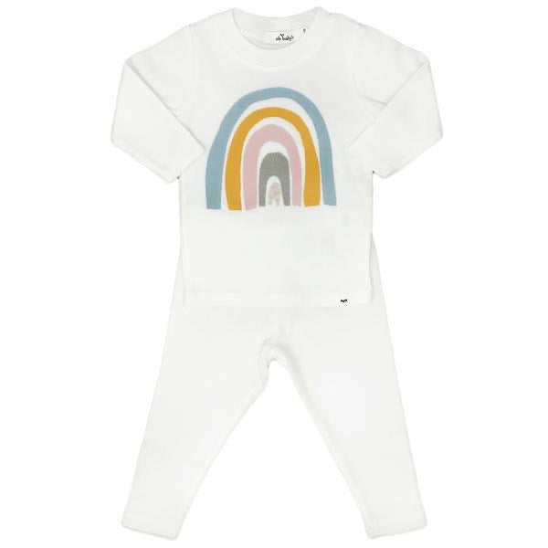 Oh Baby! Cream Spring Rainbow Set  - Doodlebug's Children's Boutique