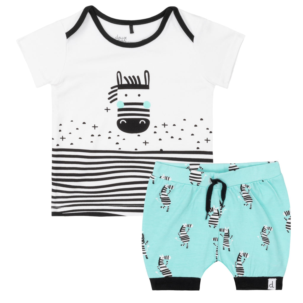 Deux Par Deux Lost in Stripes Set  - Doodlebug's Children's Boutique