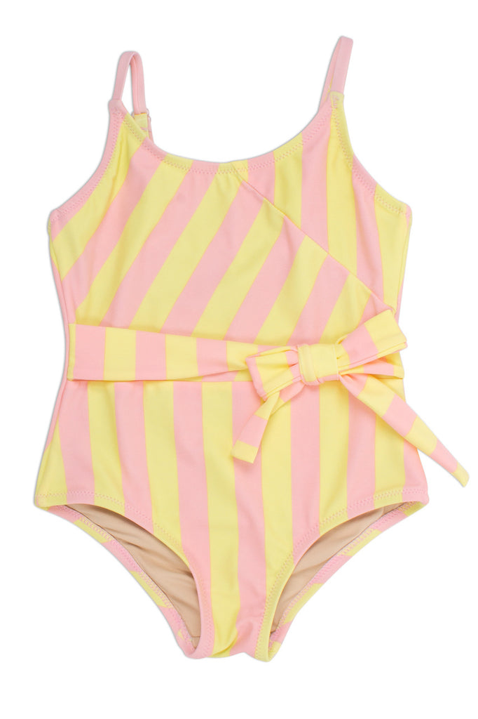 One Piece Faux Wrap Swimsuit  - Doodlebug's Children's Boutique