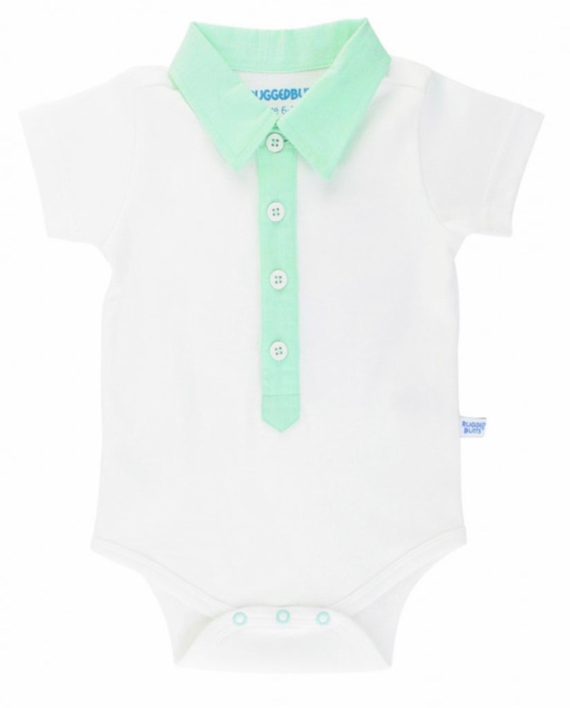 Presley Plaid Neon Mint Slub Detail Bodysuit Presley Plaid Collection Neo Mint Slub Detail Bodysuit / 0-3 months - Doodlebug's Children's Boutique