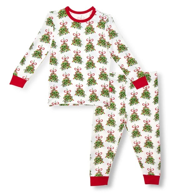 Kiss Me Modal Magnetic 2 Piece Pajama Set  - Doodlebug's Children's Boutique