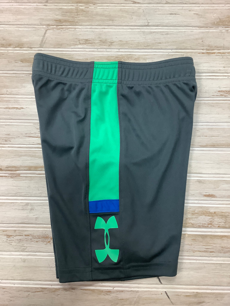 Shorts in Pitch Gray Radial Green  - Doodlebug's Children's Boutique