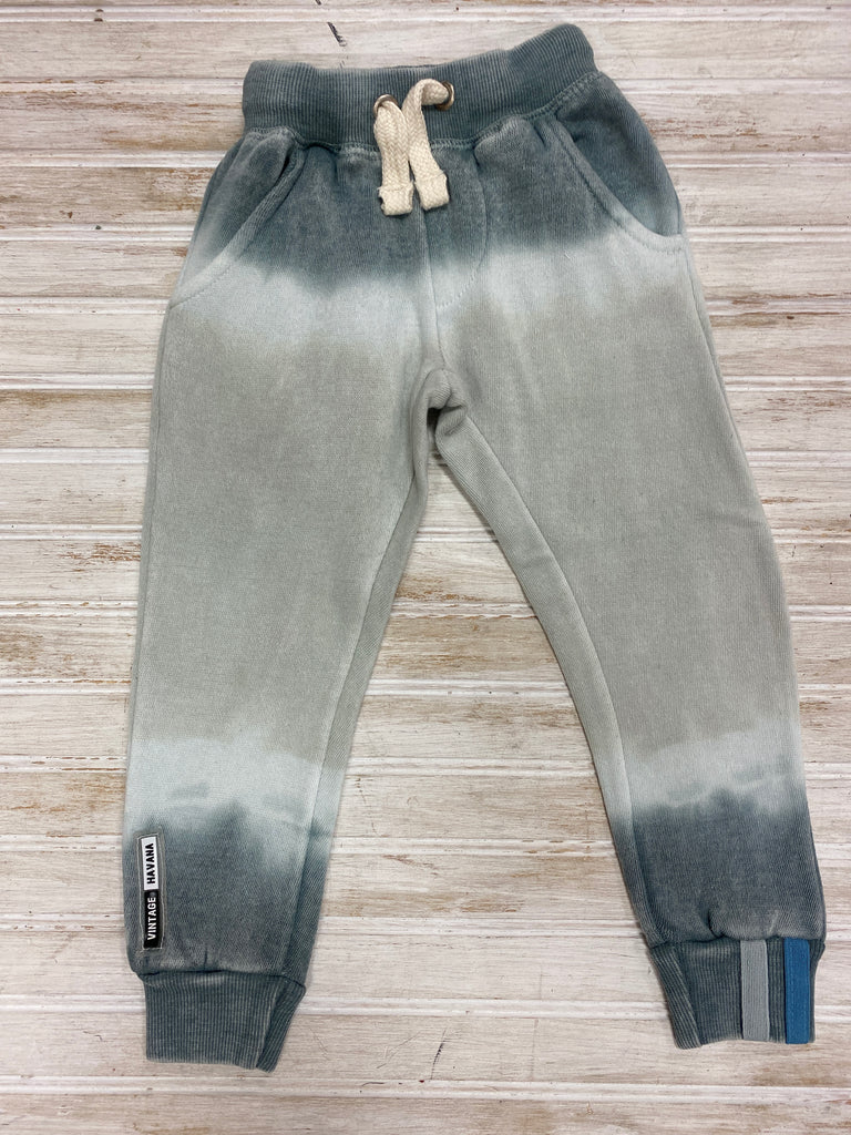 Grey Burnout Tie Dye Joggers  - Doodlebug's Children's Boutique