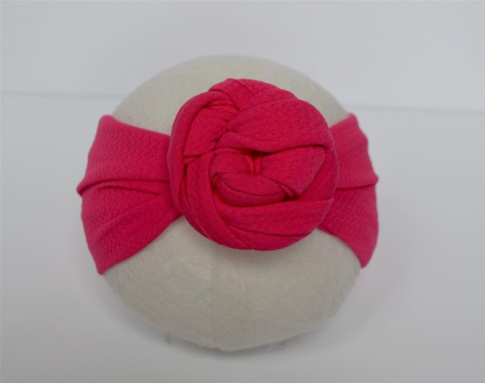Hot Pink Top Knot Headband Hot Pink / Size 1 (newborn-6 months) - Doodlebug's Children's Boutique