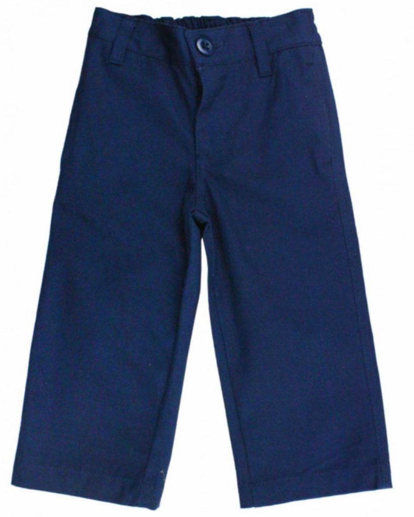 Navy Straight Chino Pants  - Doodlebug's Children's Boutique