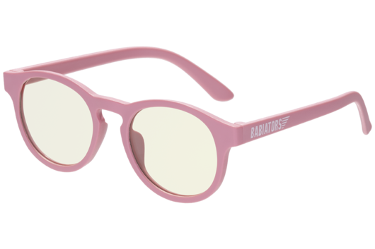 Keyhole Blue Light Blocking Glasses in Pretty In Pink  - Doodlebug's Children's Boutique