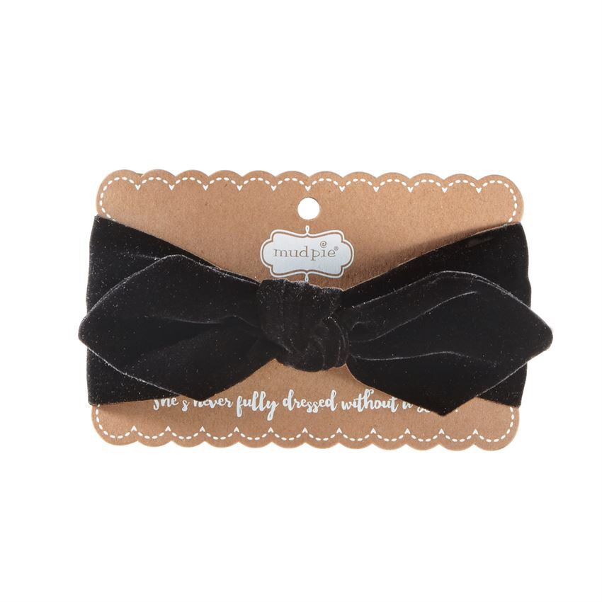Mud Pie Black Velvet Headband  - Doodlebug's Children's Boutique