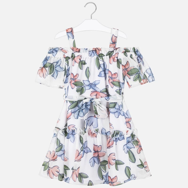 Floral Cold Shoulder Dress  - Doodlebug's Children's Boutique