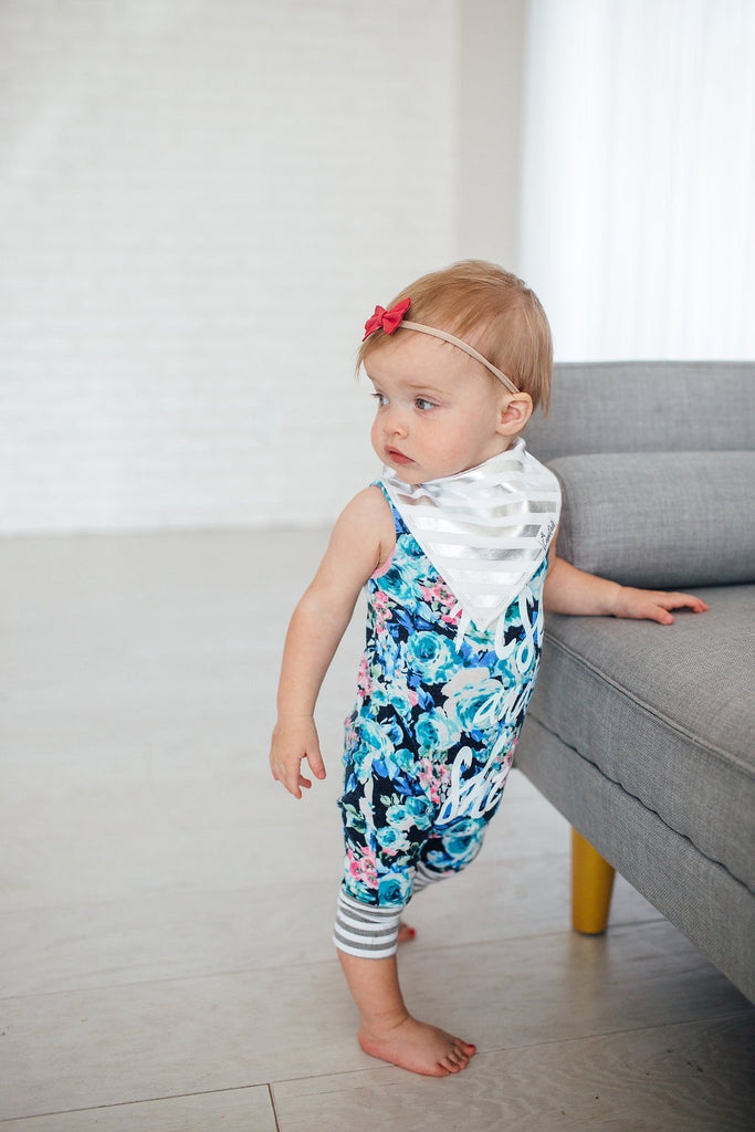 Jewel Two Pack Bandana Bibs  - Doodlebug's Children's Boutique