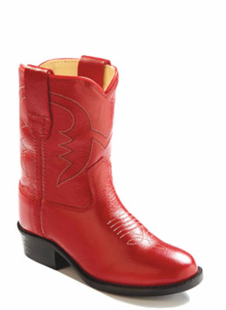 Old West Red Classic Toddler Boots