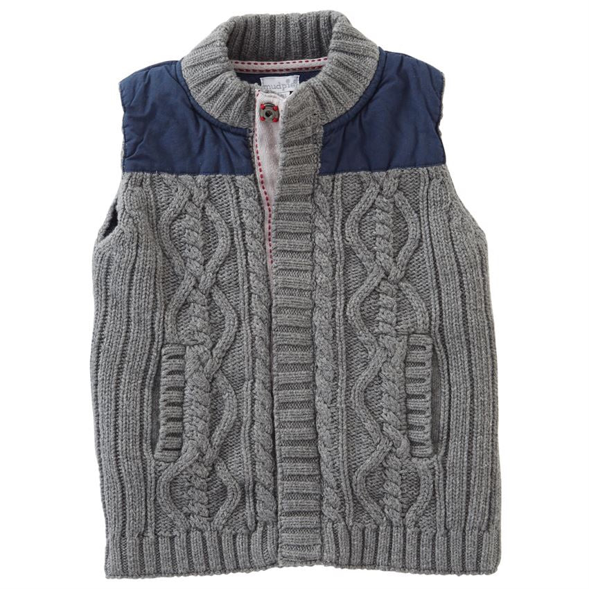 Mud Pie Sweater and Nylon Vest