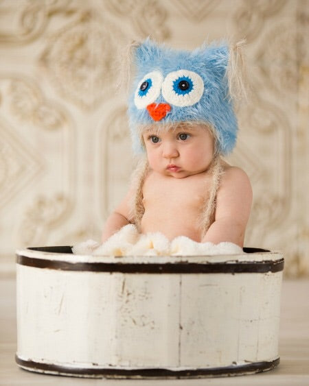 Blue Fisher Hat 0-6 months - Doodlebug's Children's Boutique