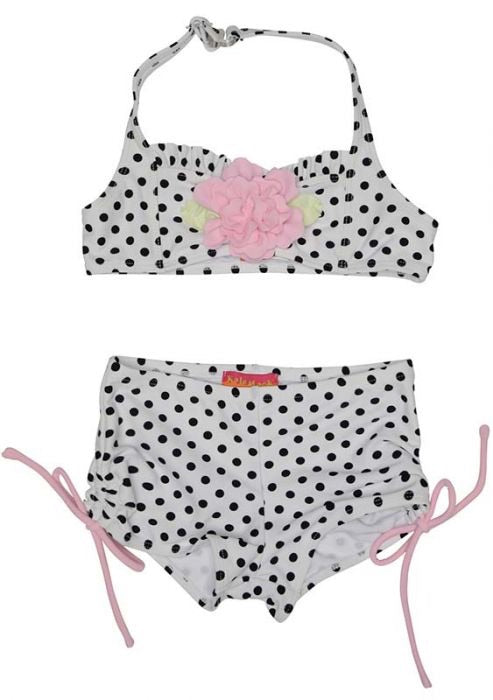 Kate Mack Black Polka Dot Shortie Bikini