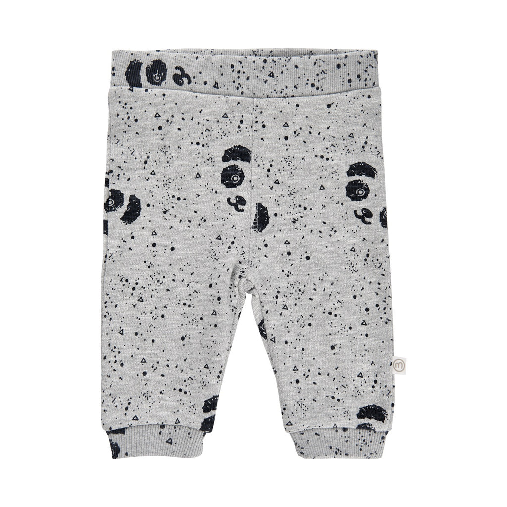 Minymo Panda Bodysuit and Printed Paw Pants