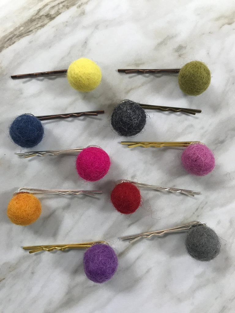 Molly Hayes & Co. Pom Pom Bobby Pin  - Doodlebug's Children's Boutique