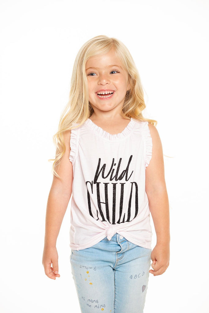Wild Child Racerback Tank  - Doodlebug's Children's Boutique