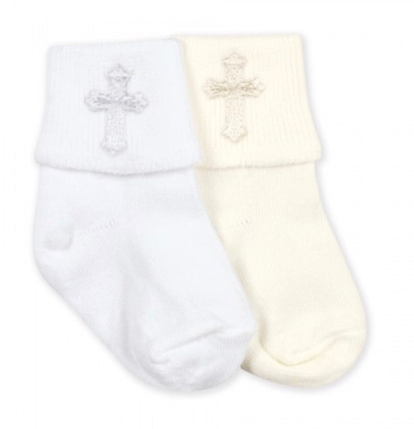 Christening Socks in White  - Doodlebug's Children's Boutique
