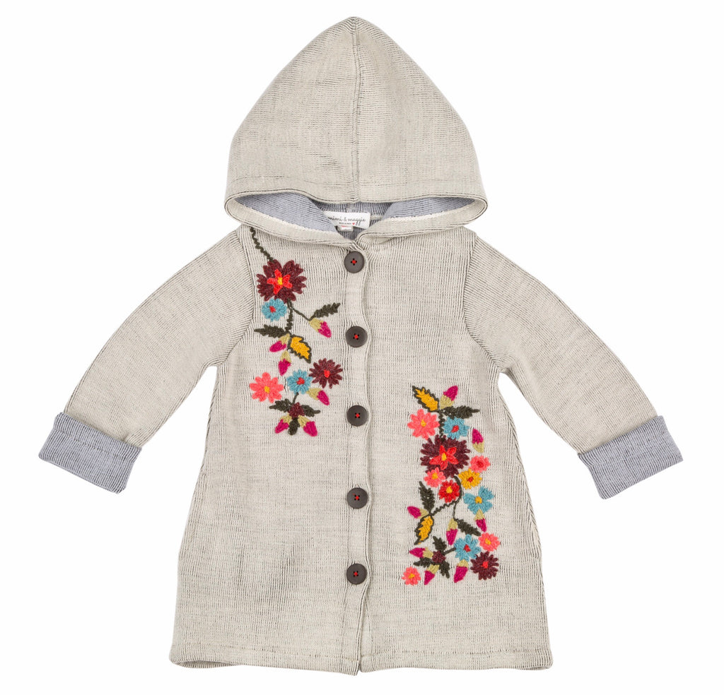 Snowing Softly Coat Sweater in Oat  - Doodlebug's Children's Boutique