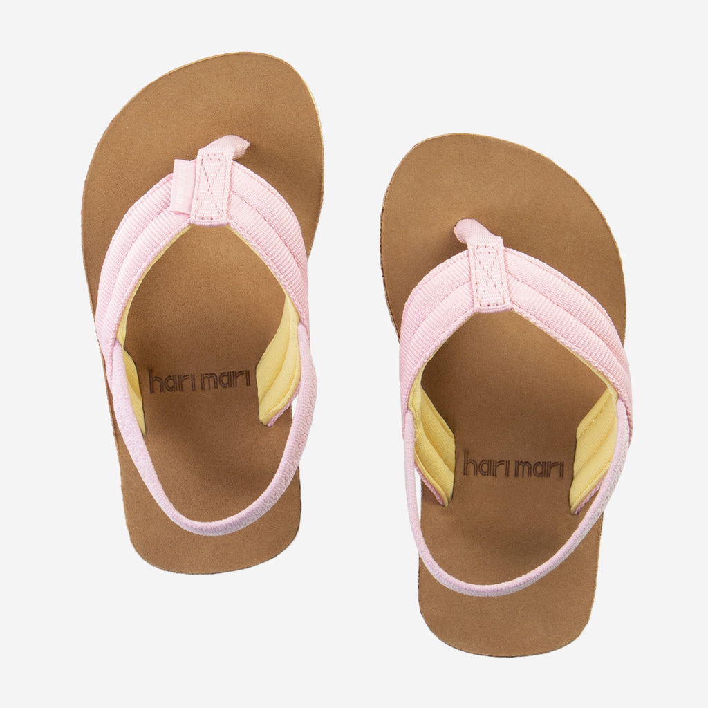 Girl Scouts Flip Flops in Light Pink and Tan Light Pink/Tan / 5T (4/5) - Doodlebug's Children's Boutique