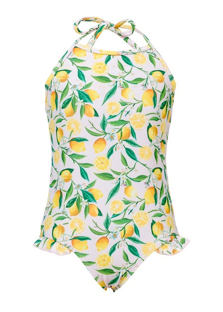 SnapperRock Lemon Halter Swimsuit