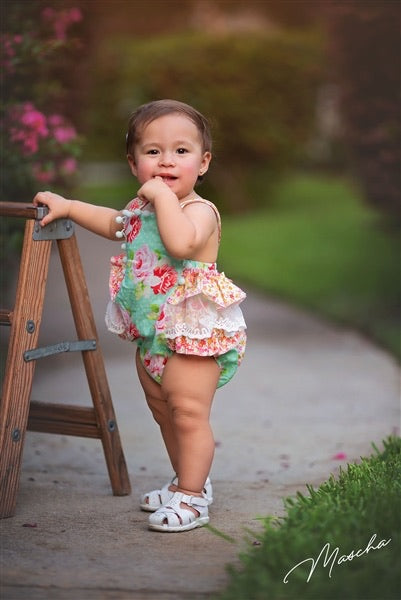 Garden Isle Sunsuit  - Doodlebug's Children's Boutique