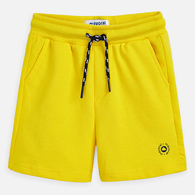 Sporty Bermuda Shorts in Canary  - Doodlebug's Children's Boutique