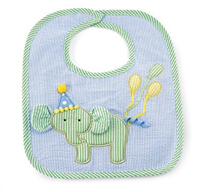 Mud Pie Birthday Elephant Bib
