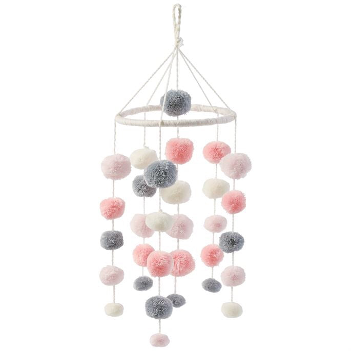 Pink Pom Pom Mobile  - Doodlebug's Children's Boutique