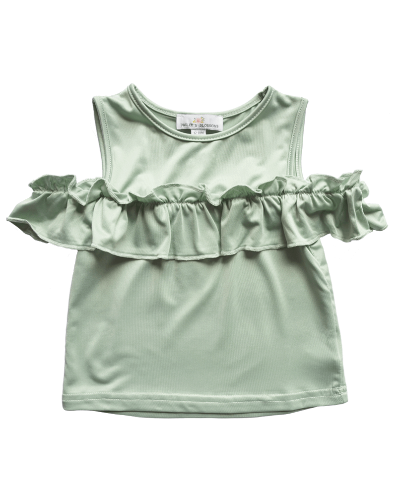 Bailey's Blossoms Fiona Cold Shoulder Ruffle Top  - Doodlebug's Children's Boutique