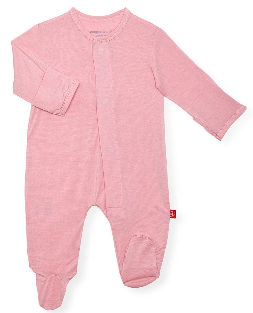 Dusty Rose Solid Magnetic Modal Footie  - Doodlebug's Children's Boutique