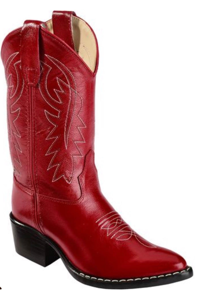 Old West Red Classic Child Boots