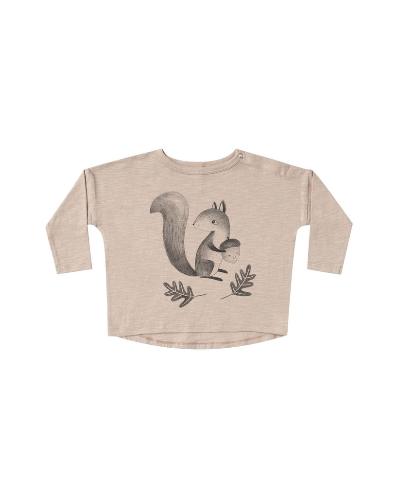 Squirrel Long Sleeve Tee  - Doodlebug's Children's Boutique
