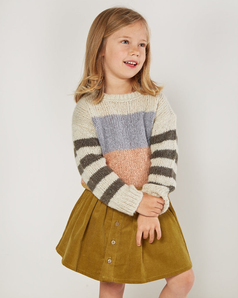 Color Block Aspen Sweater  - Doodlebug's Children's Boutique