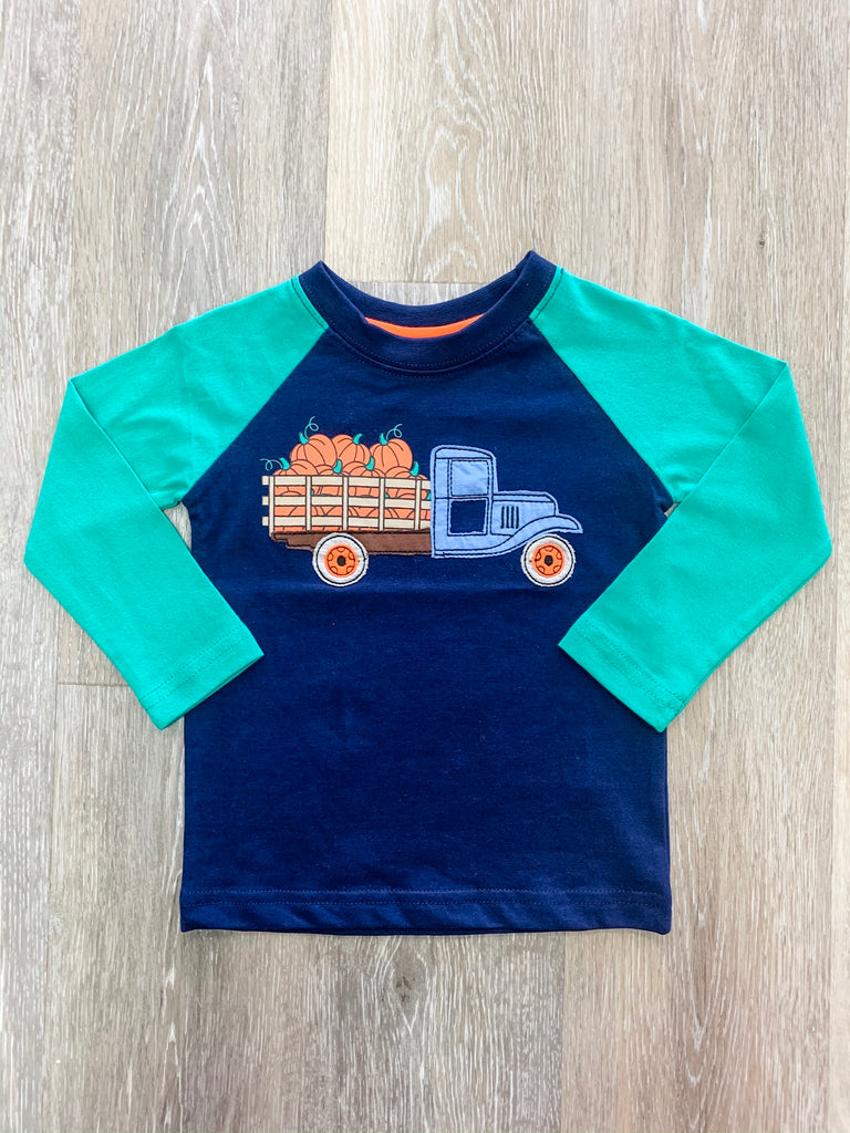 CR Sports Pumpkin Truck Shirt  - Doodlebug's Children's Boutique