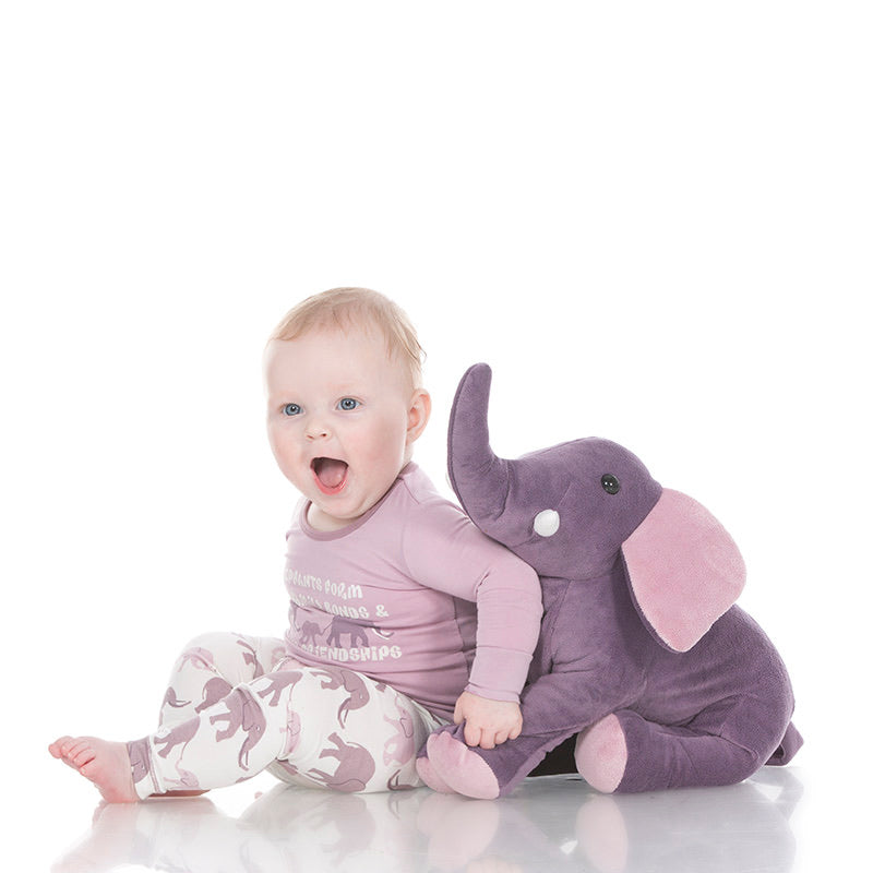 Elderberry Mama Elephant Plush Toy  - Doodlebug's Children's Boutique