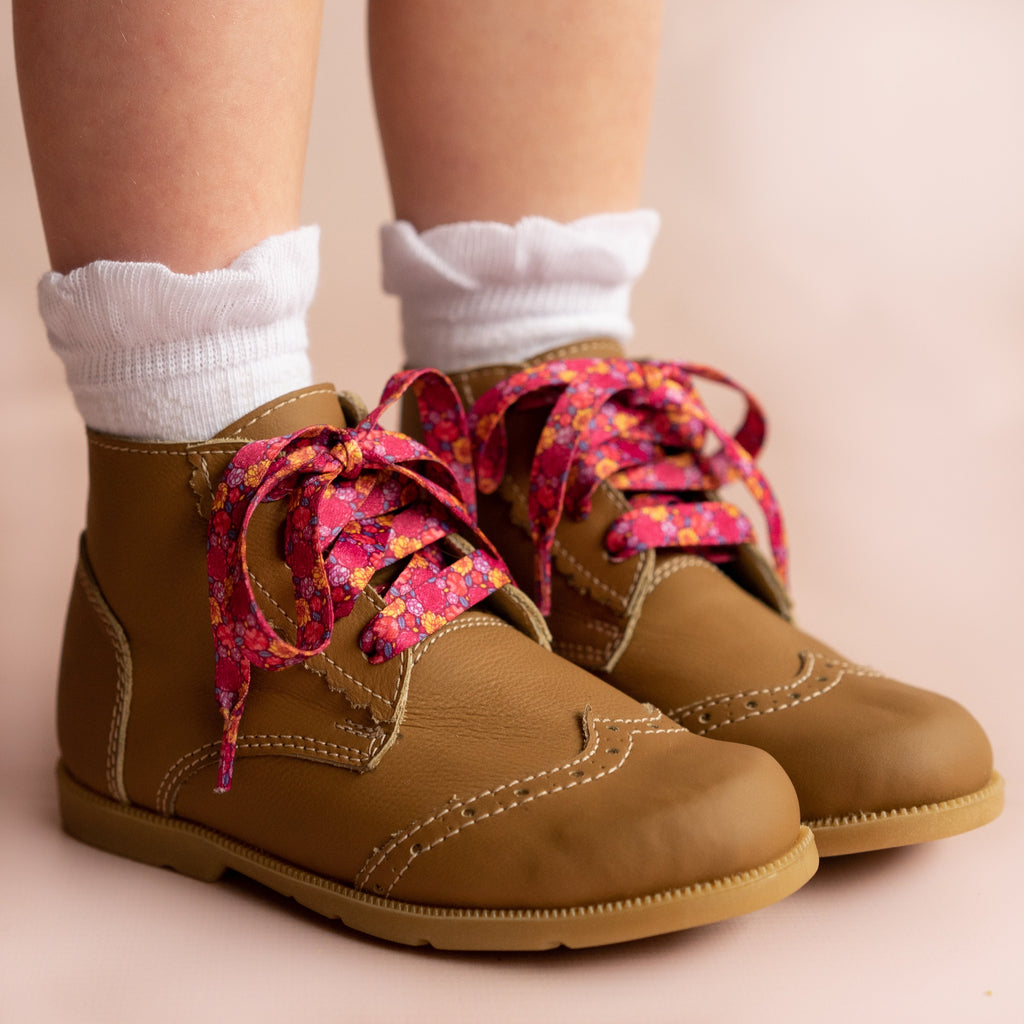 Ruffle Anklet Socks in Bright Red  - Doodlebug's Children's Boutique