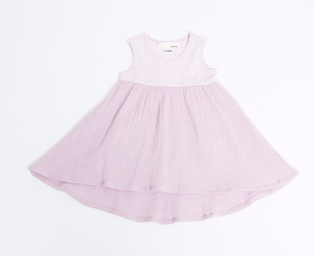 Pink Cloud Mixed Dress  - Doodlebug's Children's Boutique