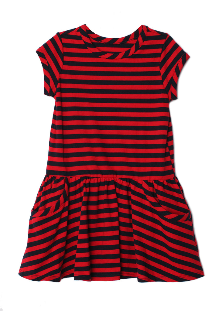 Freedom Belle Dress in Red and Navy  - Doodlebug's Children's Boutique
