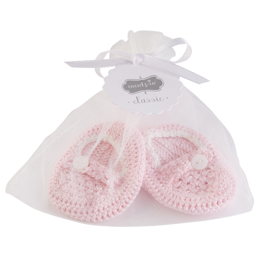 Pink Crochet Baby Booties  - Doodlebug's Children's Boutique