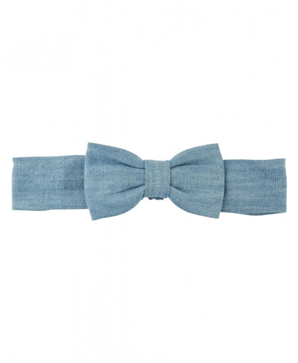 Ruffle Butts Light Wash Denim Headband