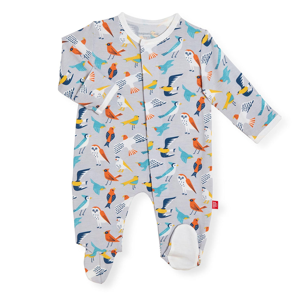 Early Bird Magnetic Modal Footie  - Doodlebug's Children's Boutique