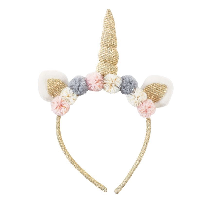 Mud Pie Unicorn Headband Gold - Doodlebug's Children's Boutique