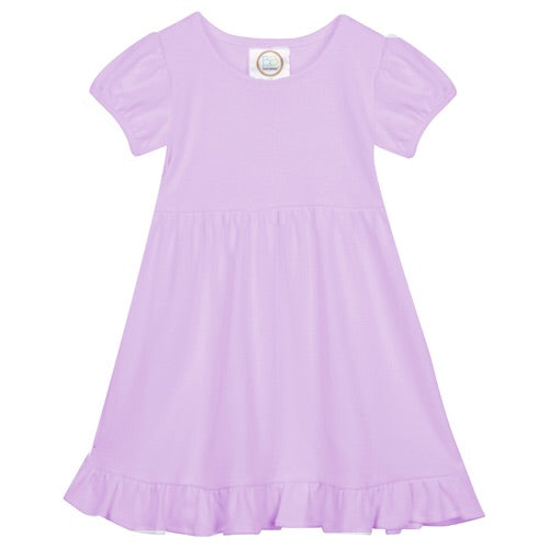 Blanks Boutique Short Sleeve Ruffle Dress Lavender / 4T - Doodlebug's Children's Boutique