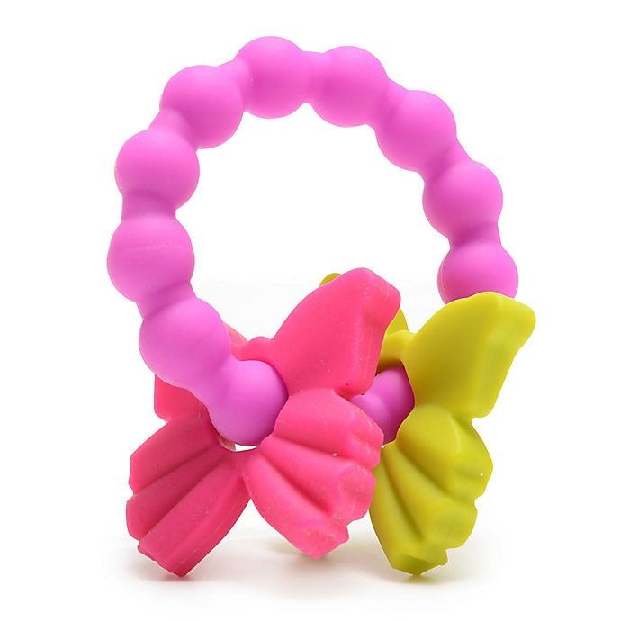 Central Park Silicone Teether in Fuchsia  - Doodlebug's Children's Boutique