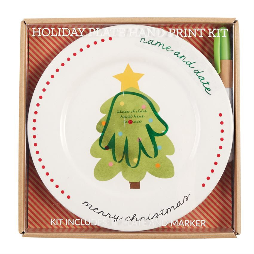 Christmas Hand Print Plate  - Doodlebug's Children's Boutique