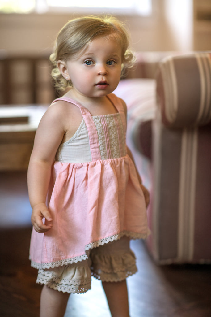Sydney Set in Bubblegum Bisque Bubblegum Bisque / 12 months - Doodlebug's Children's Boutique