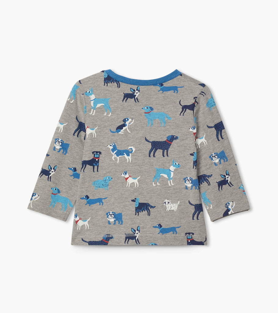 Playful Pups Long Sleeve Tee  - Doodlebug's Children's Boutique